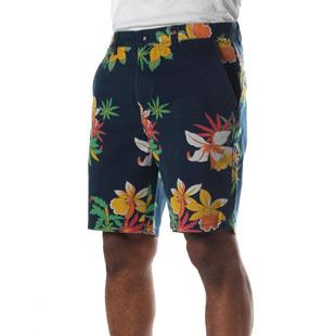 obey shorts navy