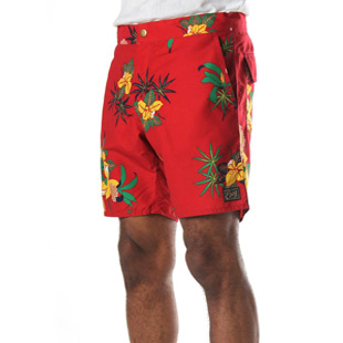 obey shorts red
