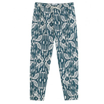 printed carrot trousers