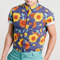 short sunflower shirts