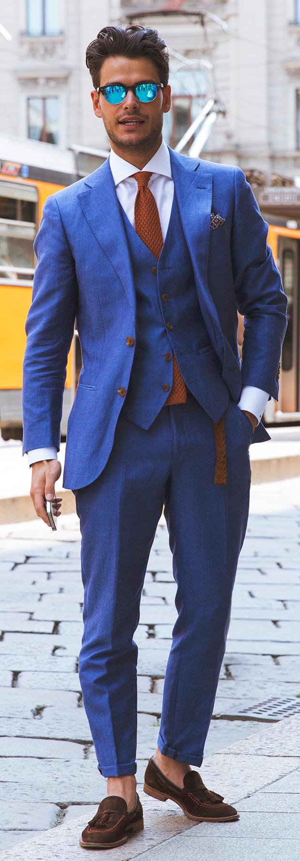 Blue Brown Combo Mens Fashion Magazine