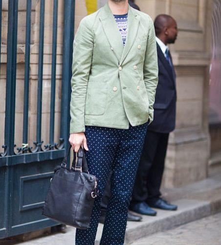 polka dot trousers