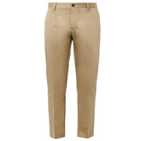 brown satin chinos