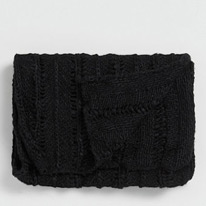 black laddered scarf