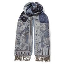 blue japan scarf