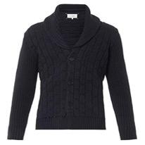 brick knit cardigan