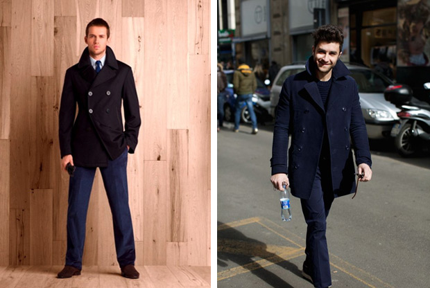 Best Price Kufv Slim Fit Plaid Woolen Trench Coat Long Jacket Outwear Overcoat