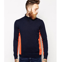 blocked rollneck