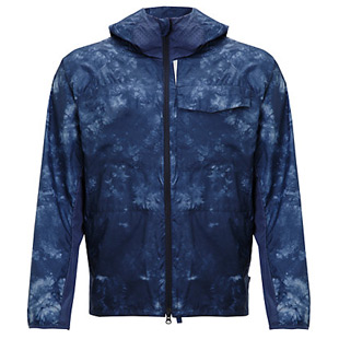 blue packable jacket