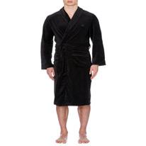 branded velour robe