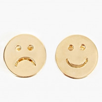 gold smiley pins