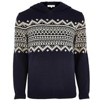 knitted isle hoodie