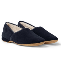 lined suede slippers