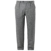 pleat tweed trousers