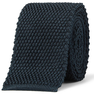 brioni knitted tie