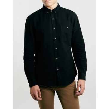 black brushed shirt