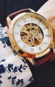 Vintage Watch With Floral