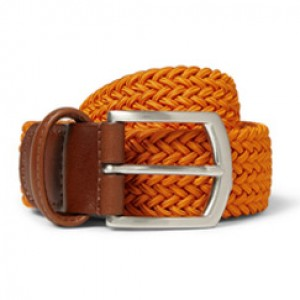 orange woven belts