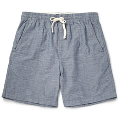 chambray crew shorts