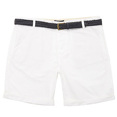 white belted shorts