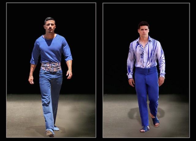 Franklin Eugene Fashion Designs Dubai New York Milan Shades of Blue Everyman Blue Pullover Blue Wave South Beach