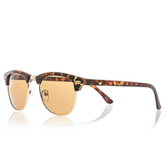 brown retro glasses