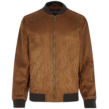 brown faux jacket