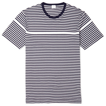 striped sunspel tee