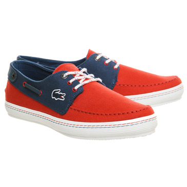 30740d9518c0ca There is something awfully quintessential about the two-tone boat shoe and  in blue and red it only accentuates the nautical feel.