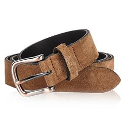 brown suede beltss