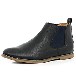 contrast side boots