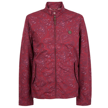 paisley dark red