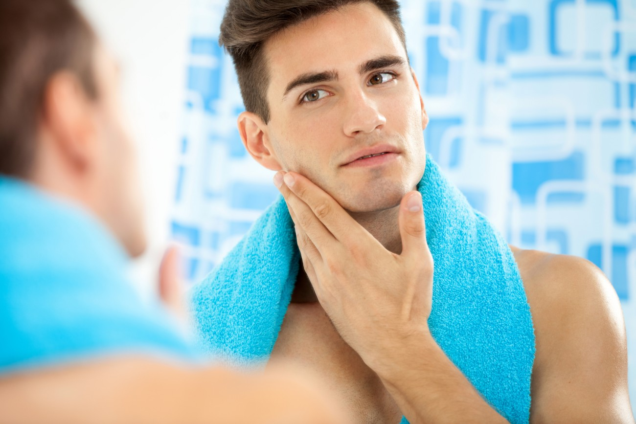 evening skincare for men