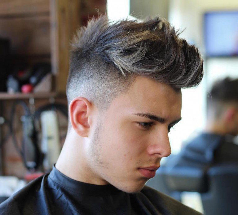 mens quiff high fade