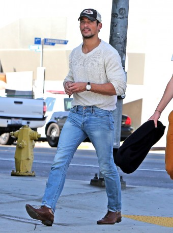 casual light denim david gandy