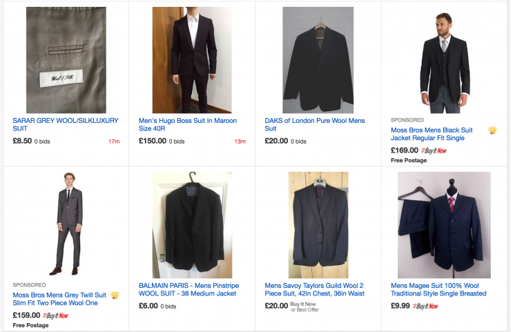 ebay menswear search