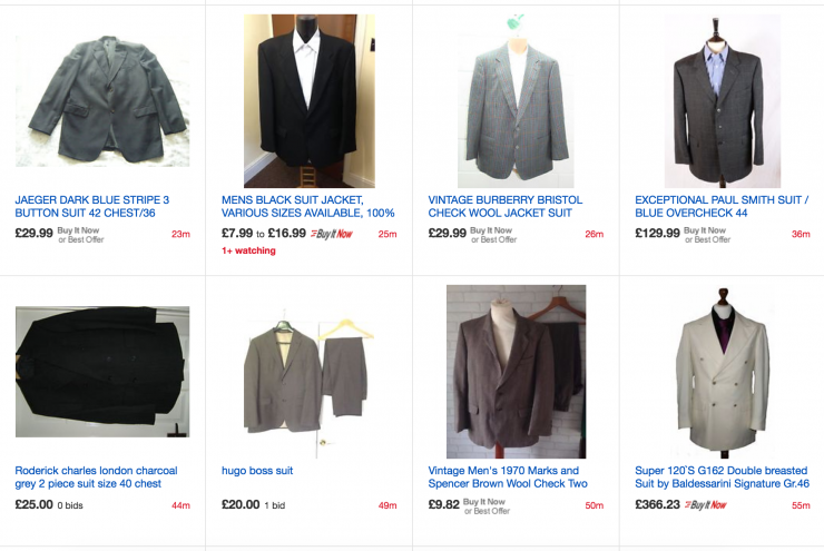 ebay mens suit search