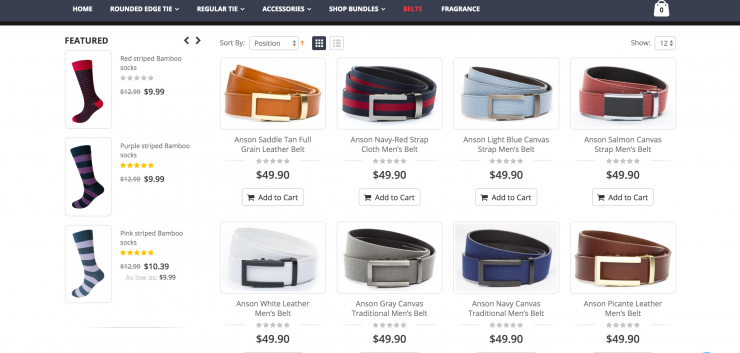 edge signature belts