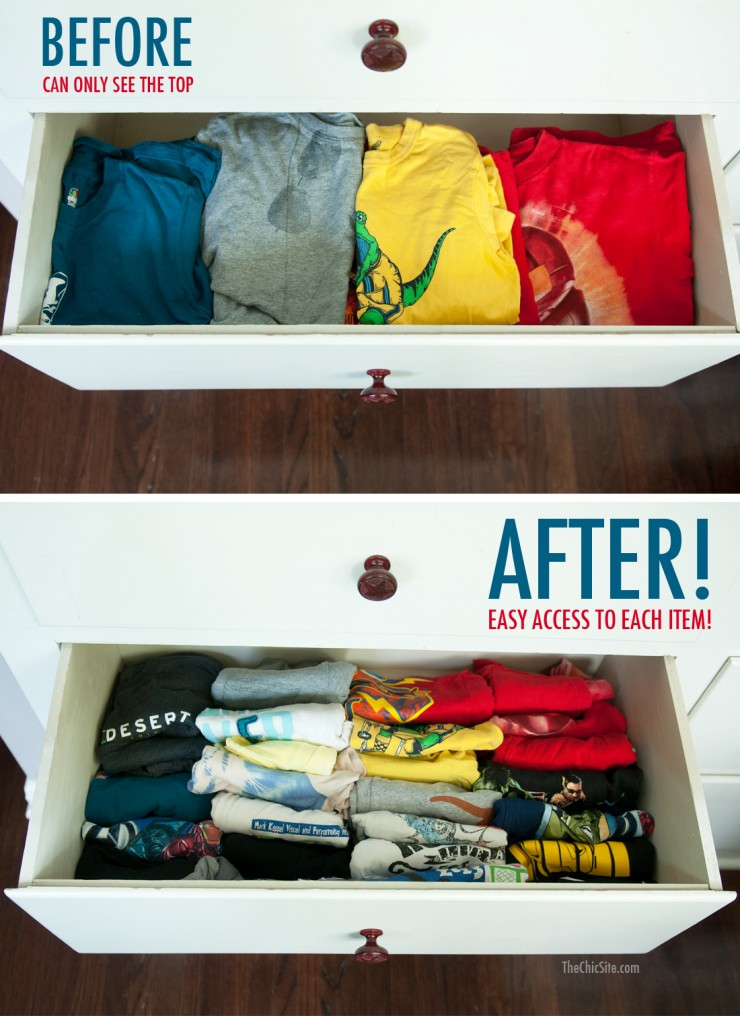 fold clothes vertically