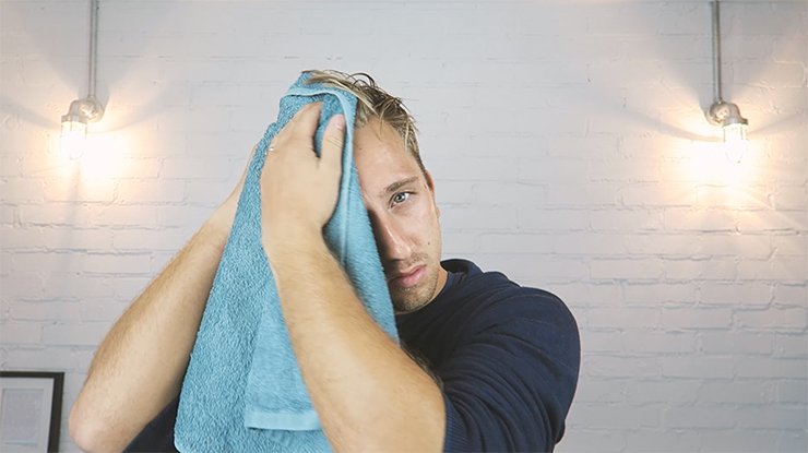 towel dry hair