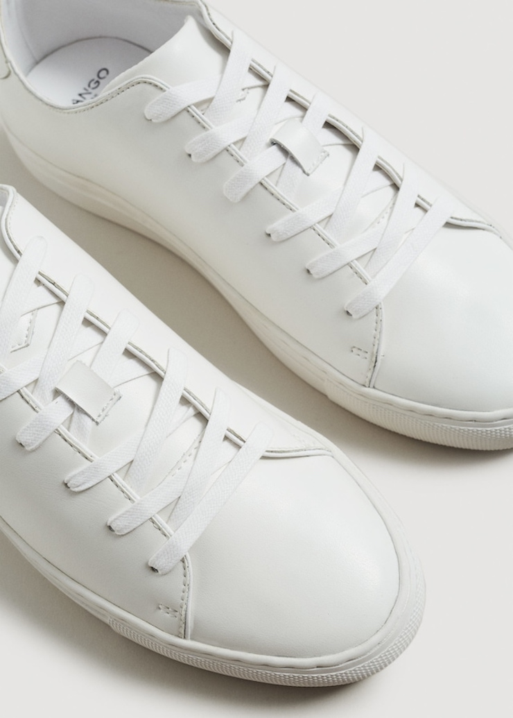 mango man white sneakers