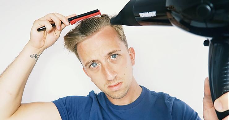 mens prestyling hair