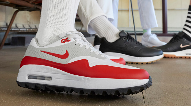Nike Air Max 1 G Men's Golf Shoe WhiteGrey PGA TOUR  Mens