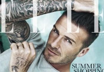 David Beckham Fronts ELLE