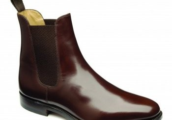 Loake Brown Polished Leather Chelsea Boots