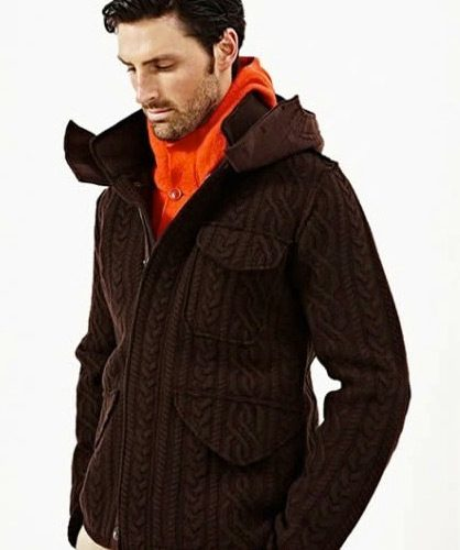 cable knit coat