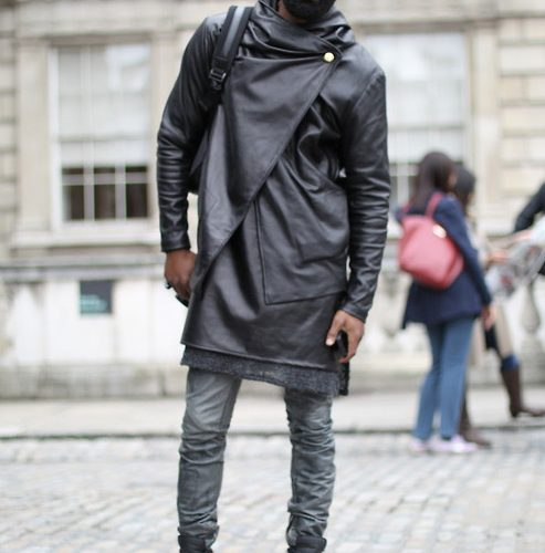 layered leather