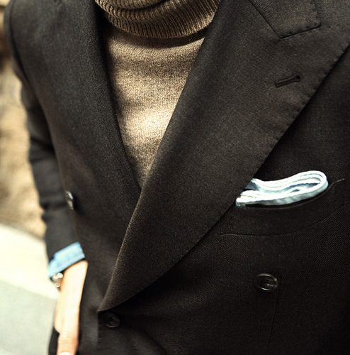 blazer and roll neck