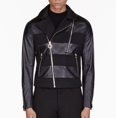 black paneled jacket