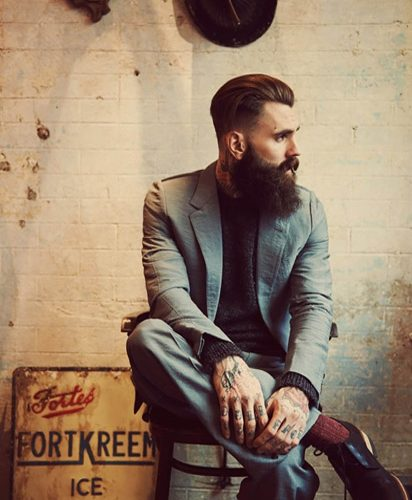 dapper and bearded
